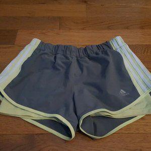 adidas climalite gray and green shorts S NEW